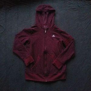 Dark Red Adidas Hoodie